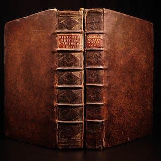 1687 1st ed Thomas Gale History of England Britain Saxon Oxford FOLIO 2v SET