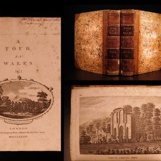 1784 1st ed A Tour of Wales Welsh Thomas Pennant Illustrated Guide Book Castles
