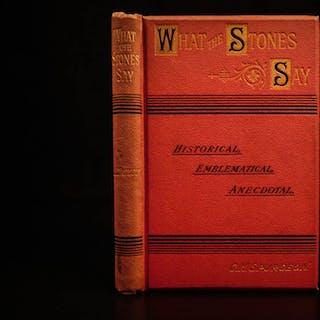 1894 1st ed Baptist Charles Spurgeon Sermons in Stones American Puritan Pastor