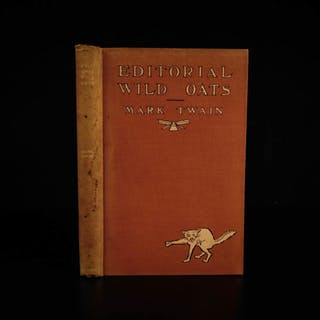 1905 1st Mark Twain Editorial Wild Oats Stories Illustrated Humor Agriculture