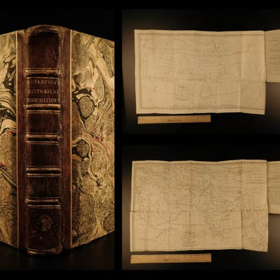 1794 History of INDIA Asia MAPS Egypt Hindustan Robertson Scottish