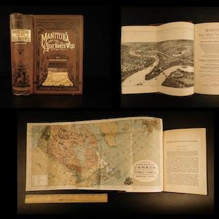 1882 1ed Manitoba Great Northwest CANADA Canadian Exploration Illustrated MAPS