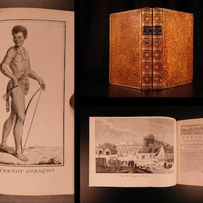 1790 1st ed Vaillant Africa Voyages Hottentot Ethnology Zoology Birds