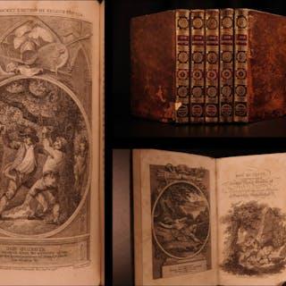 1797 Don Quixote Cervantes Chivalry English Smollett Translation Illustrated 5v