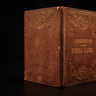 1860 Pre-Civil War Constitution of United States of America w/ Title