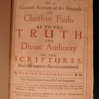 1666 Stillingfleet Origines Sacrae Anglican Doctrine Pagan Rituals Mythology