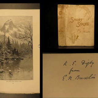 1892 1ed Buxton SIGNED Stalks HUNTING Bears Ibex Reindeer Illustrated Roosevelt