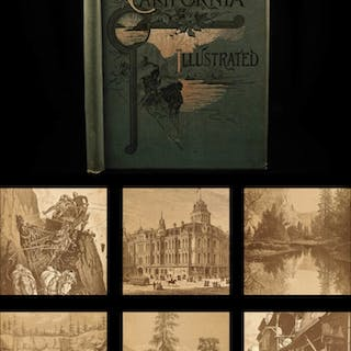 1892 1st ed California Illustrated American West Travel Yellowstone