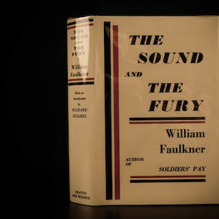 1931 1st ed The Sound and the Fury William Faulkner Stream of Consciousness