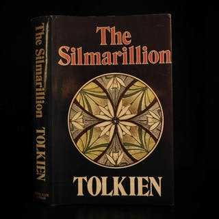 1977 1st ed Silmarillion UK JRR Tolkien Lord of the Rings Middle Earth + MAP DJ