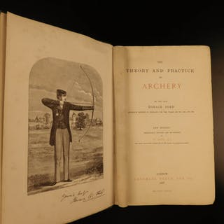 1887 ARCHERY Theory & Practice England ROBIN HOOD Techniques Weapons