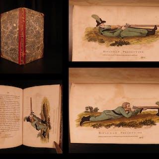 1806 Ezekiel Baker RIFLE Guns Practice & Observations Shooting Color