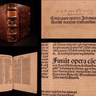 1494 Jean Gerson INCUNABLE Medieval Catholic Poem Mysticism Josephina