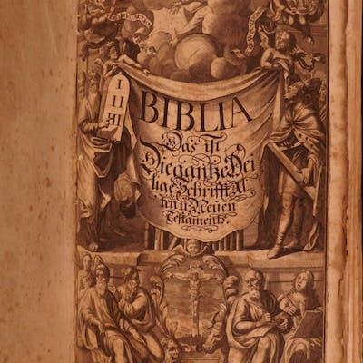 1705 RARE Catholic German Bible Sacra Biblia Dietenberger anti Luther FOLIO