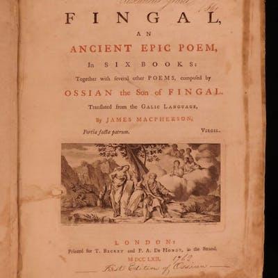 1762 1ed Ossian Fingal SCOTLAND Irish Mythology Ancient