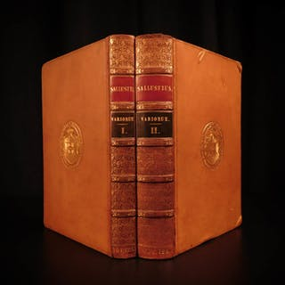 1820 Sallust Catiline Conspiracy WAR Ancient Rome Jugurthine Africa Delphini 2v