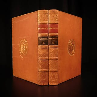 1822 Works of Propertius Elegiac Poetry Epic Roman Mythology Latin