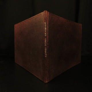 1855 1ed RARE Sportsman's Portfolio American HUNTING Fishing Illustrated Moose
