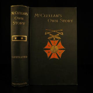 1887 1ed Civil War George McClellan Own Story Union General Slavery Lincoln