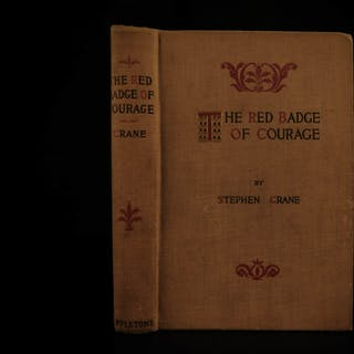 1896 1st ed Red Badge of Courage by Stephen Crane American Civil War Literature