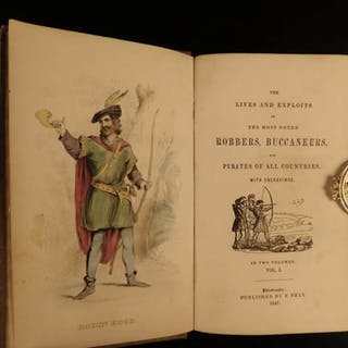 1847 Robbers & Pirates Black Beard Robin Hood Calico Jack Illustrated