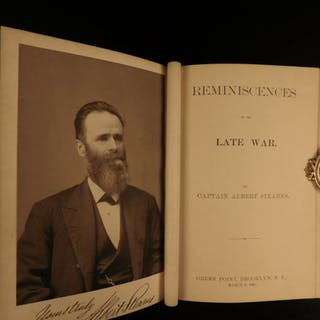 1881 1ed CIVIL WAR Reminiscences Albert Stearns Union 131st NY Volunteers