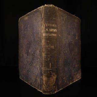1861 1ed Civil War Army Regulations Military Tactics NY SOLDIER PROVENANCE