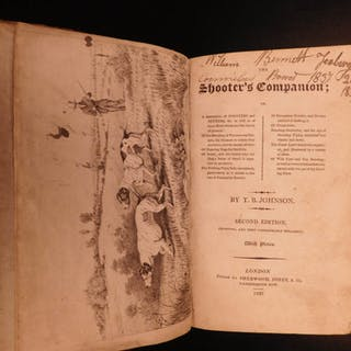 1823 Shooter's Companion HUNTING Guns Gunpowder Dogs Johnson RARE Shooting