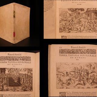1591 Funeral Rites Torture Human Sacrifice Illustrated Funerali Antichi