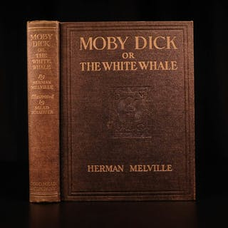 1923 Moby Dick Herman Melville Whaling Voyages Mead Color Illustrated CLASSIC
