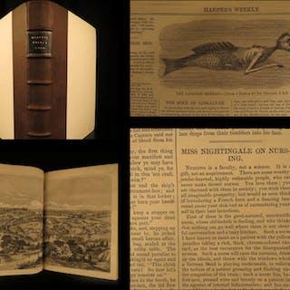 1860 Harper's Weekly Florence Nightingale Nursing Meteors Japan Illustrated