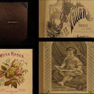 1853 Piano Sheet Music Parlor Music Waltzes Dances American Songs Polkas RARE