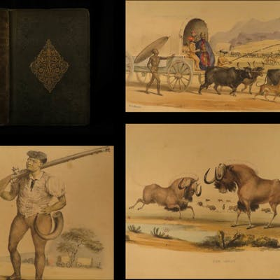 1841 Wild Sports of Southern Africa Harris 1st Big Game Hunting Book