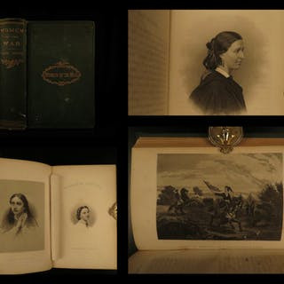 1867 Women of the Civil War Americana Gettysburg Military Robert E Lee Moore