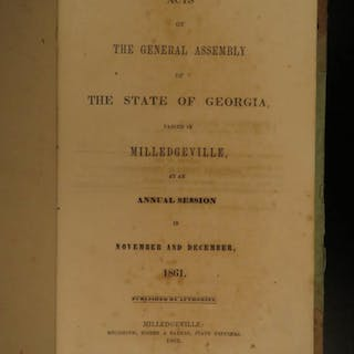 1862 Confederate Law State of Georgia in 1861 Civil War SLAVERY General