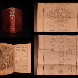 1750 Compleat Housewife Cookbook Homeopathy Beer Brewing & Wine Cooking