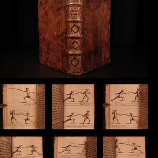 1696 1ed Art of Fencing SWORDS Labat French v Italian Illustrated Epees 2in1