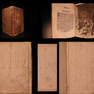 1728 1st ed Johann Priessler German ART Theory Human Anatomy Drawing