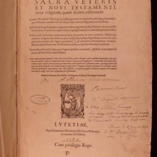 1564 BIBLE Biblia Sacra ENORMOUS Benoit Vulgate Catholic v Calvinism Stromata
