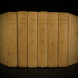 1886 Arabian Nights 1001 Entertainments Sinbad Illustrated Lady Burton