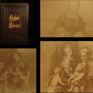 1860 Madonnas of Raphael Virgin Mary Edgar Allen Poe Chaucer Dante Goethe ART