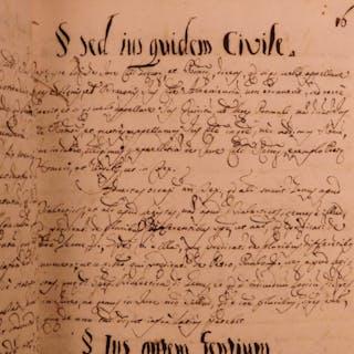 1720 Handwritten LAW Manuscript Civil LAW Latin Italian Cases Italy