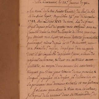 1799 French Revolution Handwritten Manuscript Marie Antoinette Paris Commune