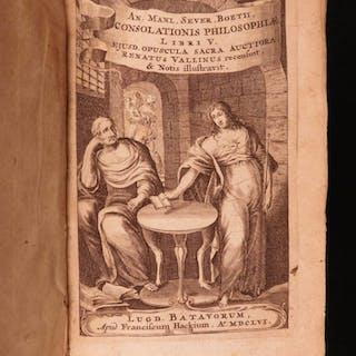 1656 Boethius Consolation of Philosophy Medieval Free Will Vallinus Latin RARE