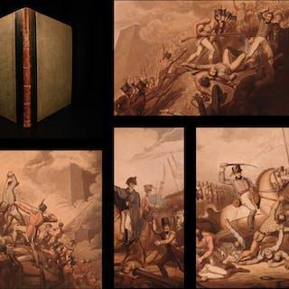 1819 1st ed Victories of Duke of Wellington Color Illustrated NAPOLEON Waterloo