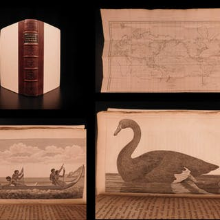 1800 1ed La Perouse Voyage Pacific Islands New Zealand Shipwreck MAP
