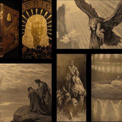 1868 Dante Alighieri Purgatory Paradise Hell Gustave DORE Illustrated