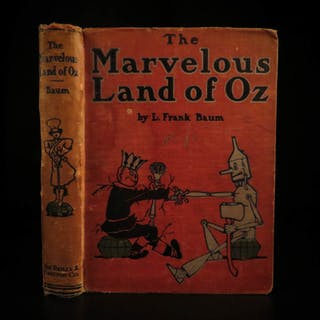 1904 1ed The Marvelous Land of Oz L Frank Baum Wizard of Oz Illustrated Fantasy