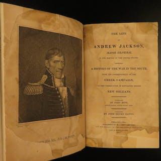 1817 1ed Life of Andrew Jackson Reid War of 1812 Americana Military