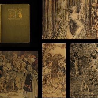 1917 1st ed Grimm Fairy Tales Arthur Rackham Little Brother & Sister
